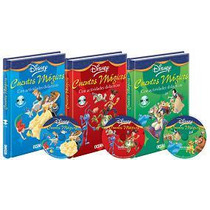 Libros Cuentos Mágicos Disney - 3 Tomos + 3 Cd Audio Océano