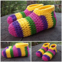 Pantuflas Y Botitas De Lana Al Crochet Talles 35/39