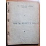 Pliego Para Licitaciones De Obras (banco Hipotecario 1965)