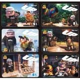 Pelicula Up De Pixar, 6 Tarjetas Telefonicas De Ee. Uu.