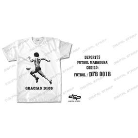 Remeras Futbol Maradona 001. Estampado Digital. Miralas!