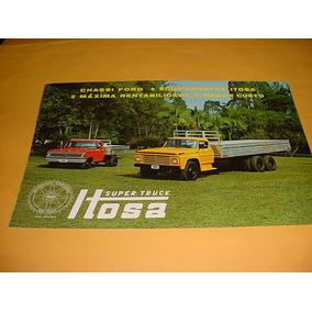 Folder Raro Ford Caminhao F-600 72 1972 Trucado Ito