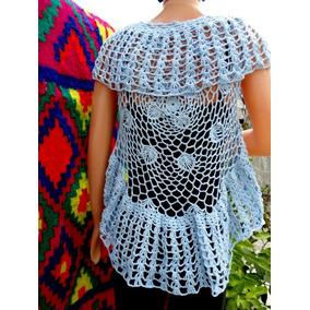 Chaleco Redondo Tejido A Crochet .romantico Y Sensual !!!