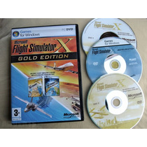 Flight Simulator X Gold Edition + Aceleration Midia Fisica
