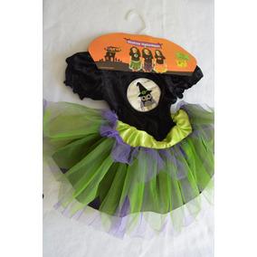 Disfraz De Niña Brujita Halloween, Muertos Talla 1 Leotardo