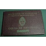 Cedula Identidad Buenos Aires 1710960 Ministerio Gobierno 59