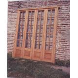 Portón Vidriado De Madera Antigua!