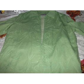 Saco Mujer,verde,hecho En India,tanjay,talla M, $1100