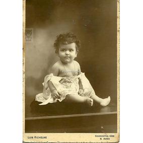 Beba Santada Richelme Estudio Foto Carton Postal Antigua
