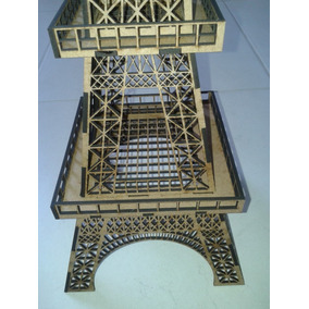 Kit Torre Eiffel Mdf: 1 X 1,25mt + 01 X 80cm + 01 X 64cm