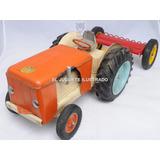 Tractor Juguetal Antiguo Lata Con Arado Ind Argentina