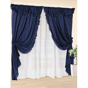 Cortinas riel voile listas cortinas en mercado libre for Cortinas para living comedor