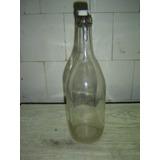 Antigua Botella Soda Resorte Letras Grabadas