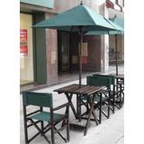 Sillones Director Madera Y Mesa Plegables Exterior Bar