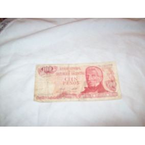 Aurojul-billete 100 Pesos Banco Central Rep.argentina
