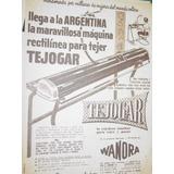 Publicidad Antigua Maquina Tejer Knitting Machine Wanora Mo2