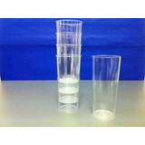 Vaso Trago Largo Plastico Rigido Cristal X 100u