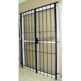 Aberturas Puerta Ventana Balcon 120x200 Con Reja C/cerradura