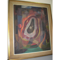 Cuadro Abstracto Oleo De Emilio Angel Sirimarco (327)