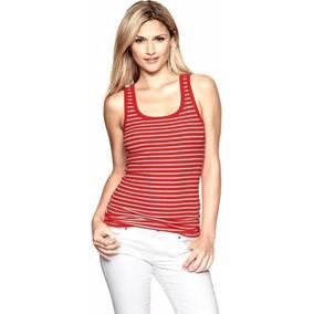 Musculosa Roja Con Rayas Blancas De Gap - M