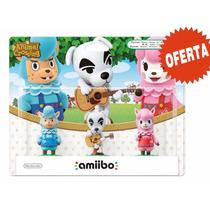 Amiibo Paquete De 3 Figuras Animal Crossing Nuevo Sellado