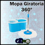 Mopa Giratoria 360 Trapeador Giratorio Microfibra + Repuesto