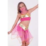 Fantasia Infantil Odalisca Dança Do Ventre Colorida