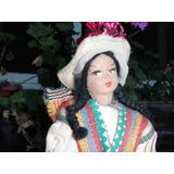 Muñeca Antigua Con Traje Tipico Coya