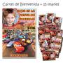 Cars Disney Cartel Cumpleaños + 15 Souvenirs Imantados Foto