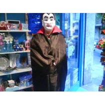 Disfraz Capa Dracula Negra Y Roja Niños Mediano Halloween