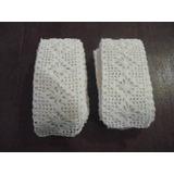 Antigua Puntilla - Entredós Tejida A Mano Al Crochet 1,10m
