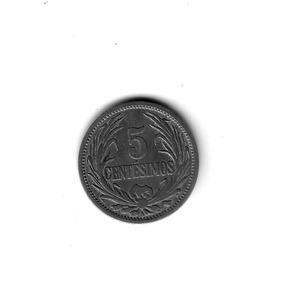Moneda Uruguay 5 Centimos 1909