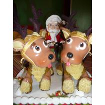 Papa Noel Y Su Trineo En Porcelana Fria