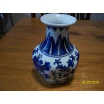 Hermoso Florero De Porcelana Oriental