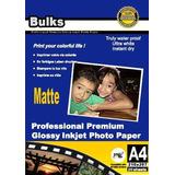 50fl Matte Photo Paper À Prova D´água108g A4 P/capa Cd/dvd