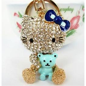 Llavero Con Swarovski Hello Kitty Con Oso