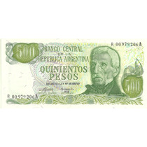 Billete 500 Pesos Ley Reposicion Bottero 2420 Sin Circular