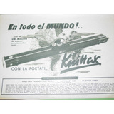 Publicidad Antigua Maquina Tejer Knitting Machine Knittax M1