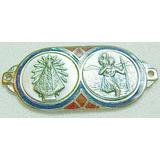 Plaqueta - Medalla ***san Cristóbal Y La Virgen De Lujan***