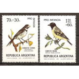 Argentina 968/9 Gj Pajaros Año1974 Aves 1652/3 Mint