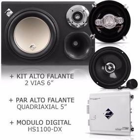 Caixa Cxp12-tn + Módulo Hs1100 Dx + Kit 2 Vias + Par Falante