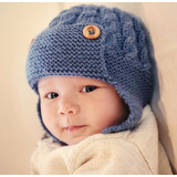 Gorro Aviador Trenzado |lana| Baby Boutique - Bebe Niños