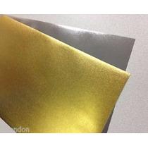 5 Papel Decalque Water Slide Dourada Laser Adesivo Unha