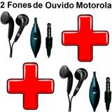 2 Fones Ouvido Motorola Moto Z G4 X E Razr Hd D1 Not Tablet