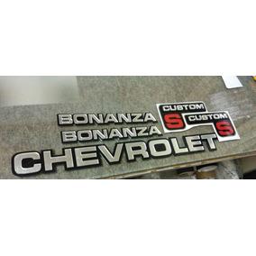 Emblema Chevrolet Bonanza Custom S 1985 1986 1987 1988 1989