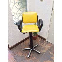 Silla Neumática Infantil Para Estética Color Amarillo Y Azul