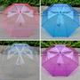 Sombrilla Paraguas Transparente Colores Tipo Baston 83 Cm
