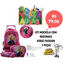 Kit Mochila Rodinha Debie Fashion Barbie + Lancheira +estojo