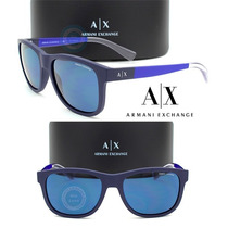 Lentes Armani Exchange Ax4054s 815780 Matte Navy - Blue