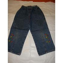 Pantalon De Jeans Talle 2 Con Elastico En La Cintura